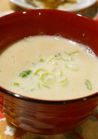 えのき氷で絶品豆乳スープ
