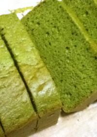 材料4つで抹茶ケーキ~BP・油脂不使用