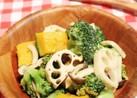 簡単☆温野菜のガーリックバタポンサラダ☆