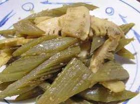 蕗と筍のピリゴマ炒め
