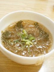 咳き込み注意!ところてんの柚子胡椒スープの写真