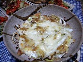 長葱のチーズ焼
