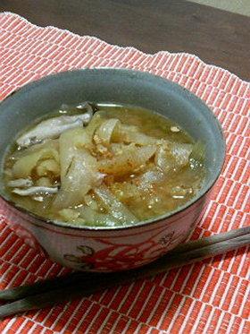 炒め玉ネギのお味噌汁。
