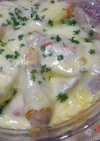 ジャガイモとウインナーのチーズ焼き