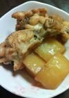 骨付き鶏肉と大根の煮物