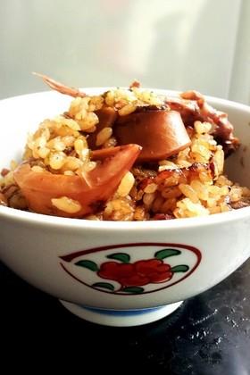 炊飯器で!缶詰で簡単 イカの炊き込みご飯