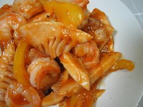 えびと筍のチリソース煮