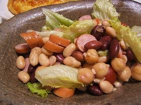 色々お豆のサラダ