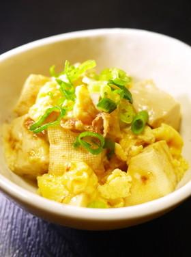 もう一品欲しい時に!木綿豆腐と卵の甘辛煮