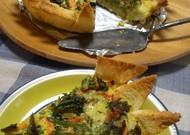 ブロッコリーと食パンの簡単キッシュ