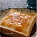 朝食に*蜂蜜とチェダーチーズのトースト*