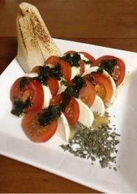 【簡単】トマトのカプレーゼ(トニオ風)