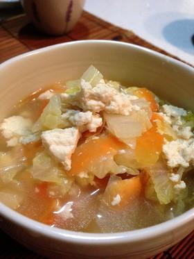 温まる♪白菜と崩し豆腐のトロトロ汁