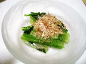 冷凍で簡単~♪小松菜のおひたし