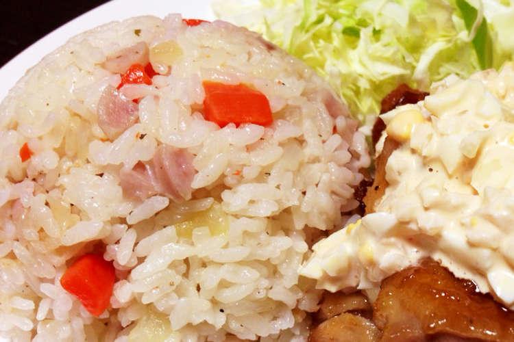 オムライスに 簡単 炊飯器ピラフ レシピ 作り方 By ゆん クックパッド