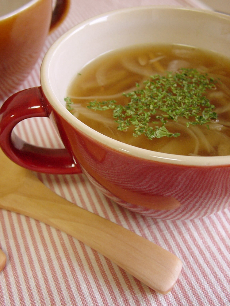 玉ねぎと生姜のスープ。
