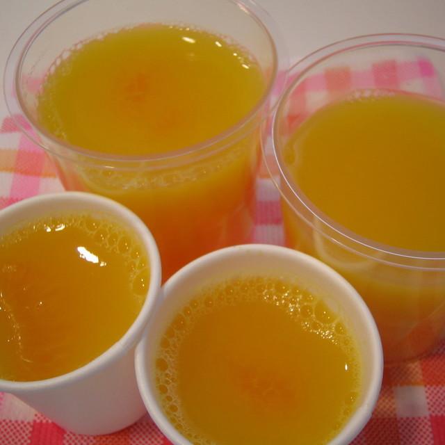 ゼリー オレンジ ジュース