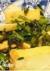 大根葉と厚揚げのピリ辛炒め