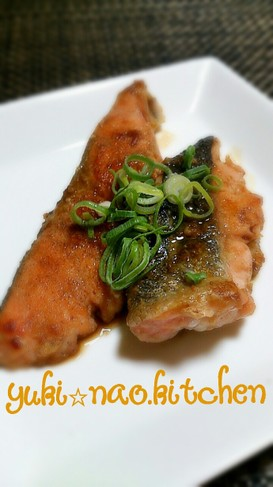 ☆鮭のガーリックバターポン酢☆
