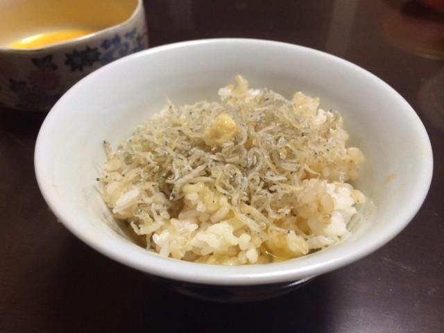 じゃこ+生姜卵かけごはん