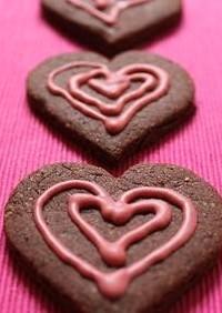 ハートのデコチョコクッキー