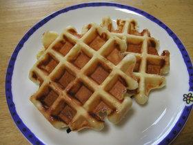 朝食に!お箸でワッフル(イースト使用)