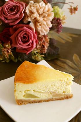 簡単おいしい♪洋ナシと柚子のチーズケーキ