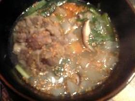 野菜たっぷりコムタンスープ