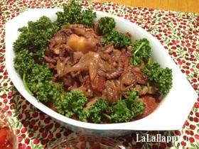 タコと野菜のトマトオリーブ煮こみ