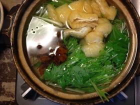 給料日前に絶品節約水菜鍋(*^。^*)