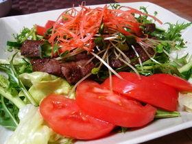 牛ステーキのサラダ仕立て バルサミコ風味