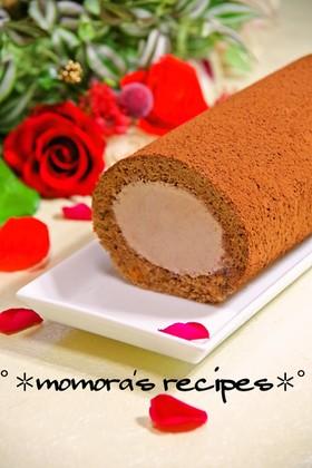 HMで簡単♡ふわふわチョコロールケーキ