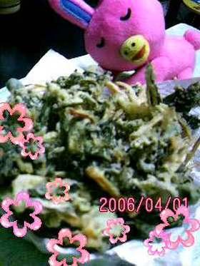 ★春だから旬の野菜と天ぷら★