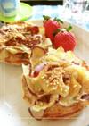 さつま芋の皮救済⋆甘辛おやつトースト。