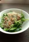 サラダほうれん草のナムル風サラダ
