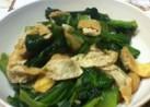 小松菜とお揚げの炒め物