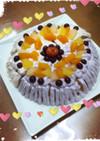 炊飯器で!紫陽花ケーキ