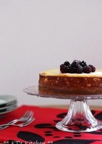 たっぷりレモンのリコッタチーズケーキ