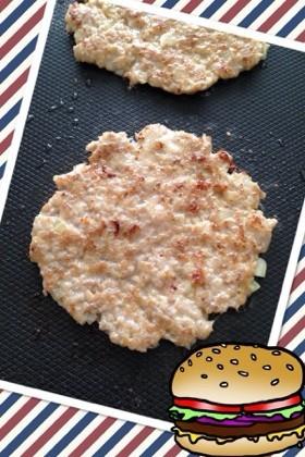 ハンバーガー用*薄いパテの作り方