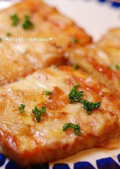 ピザ風厚揚げのチーズ焼き