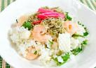 シーフードミックスと大葉で簡単お寿司♪