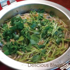 イサザの柳川鍋