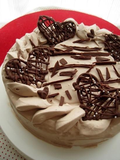 バレンタインデコレーションケーキ