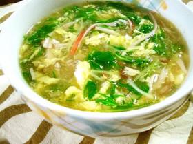 水菜のかきたまスープ