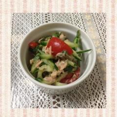 簡単★きゅうりトマトツナのサラダ