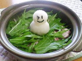 スノーマン鍋(雪見鍋)☆1人鍋