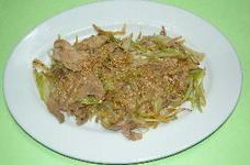 島ラッキョウの豚肉炒め