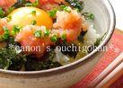 忘れられない明太子と卵の丼