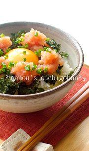 忘れられない明太子と卵の丼の写真