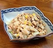 ズボラ飯副菜☆白菜としいたけの簡単ツナ煮の写真